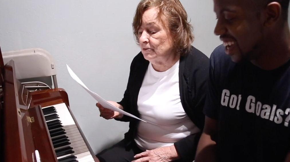 Woman at piano class