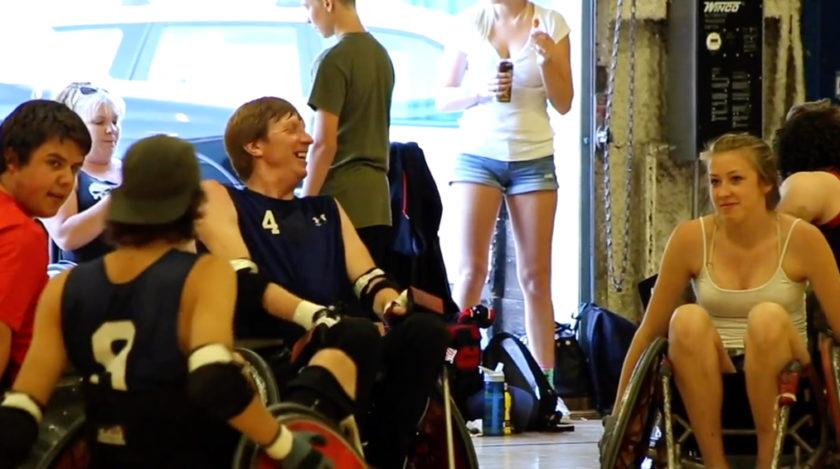 Basketball wheelchair team