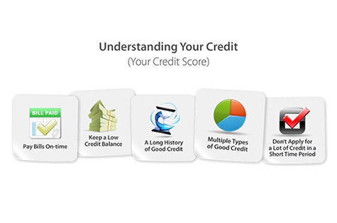 infographicL understanding your credit (your credit score)