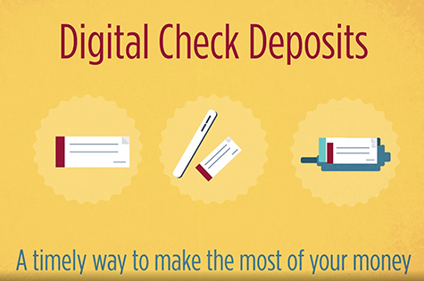 infographic: digital check deposit. A timely way to make the most of your money.